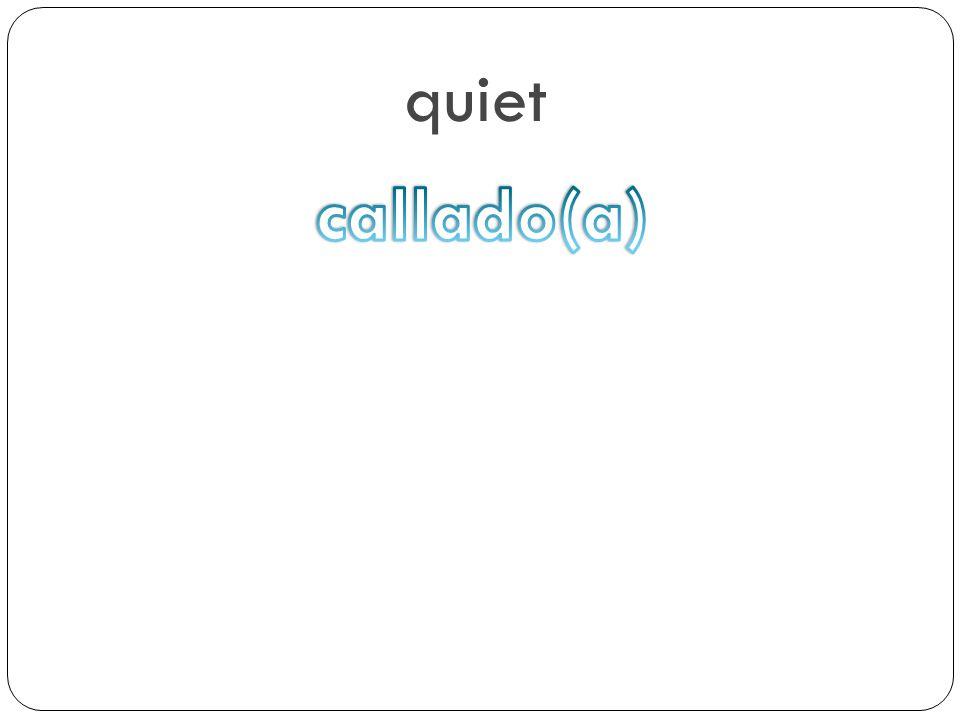 quiet callado(a)