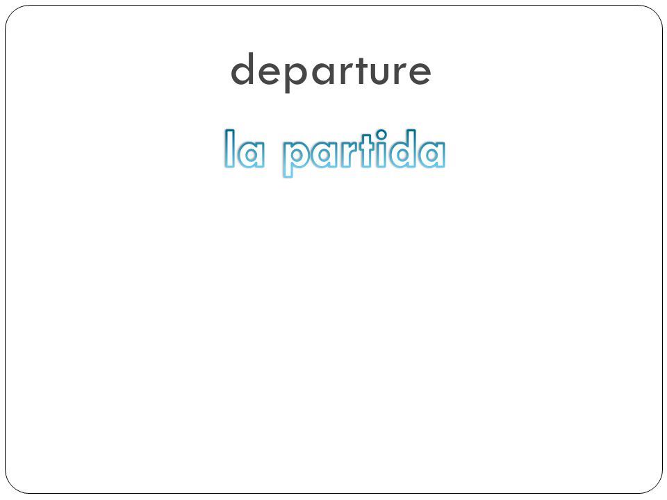 departure la partida