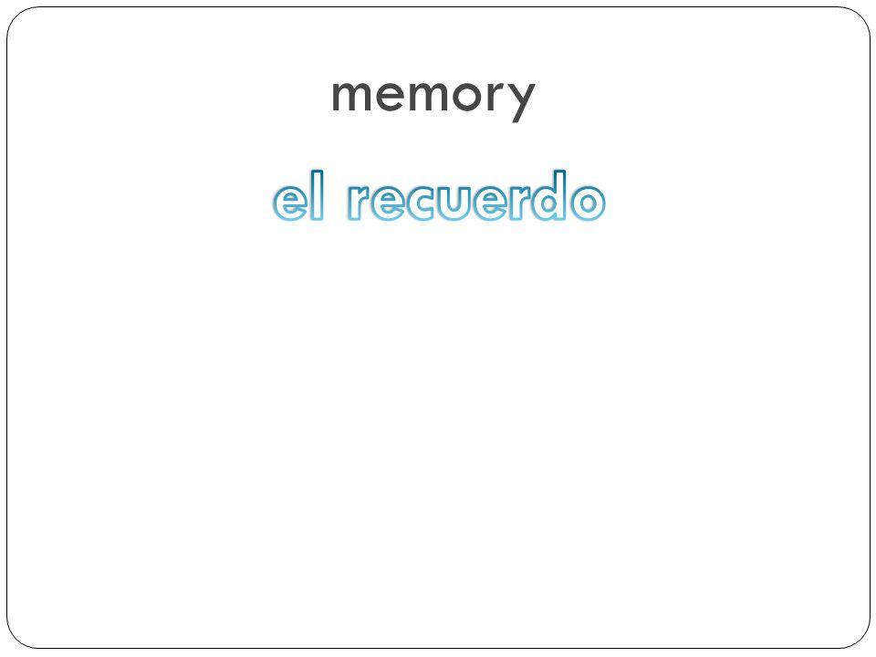 memory el recuerdo