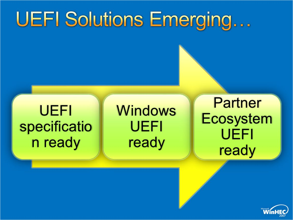 UEFI Solutions Emerging…