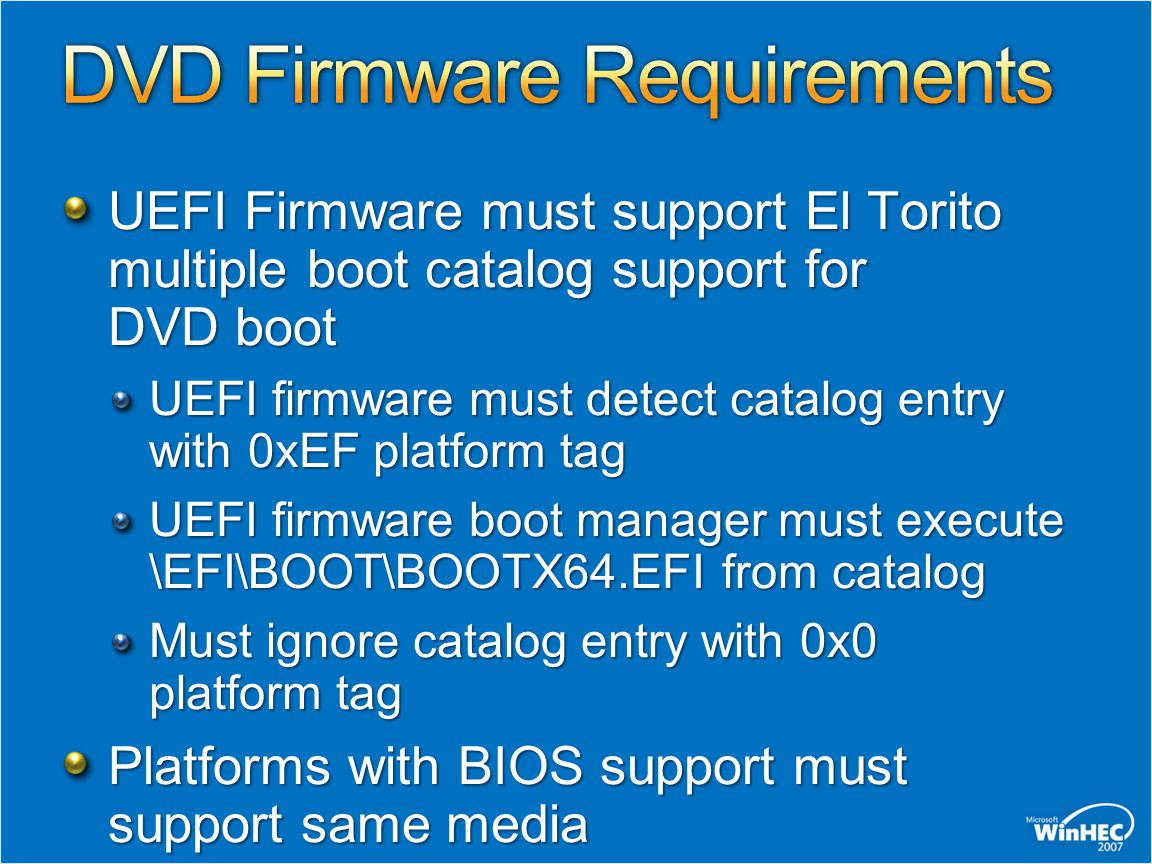 DVD Firmware Requirements