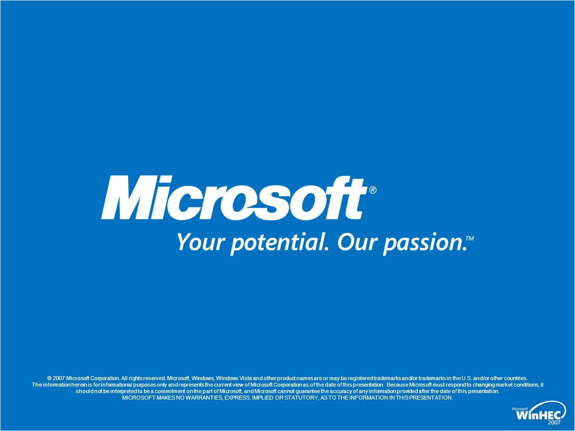 © 2007 Microsoft Corporation. All rights reserved