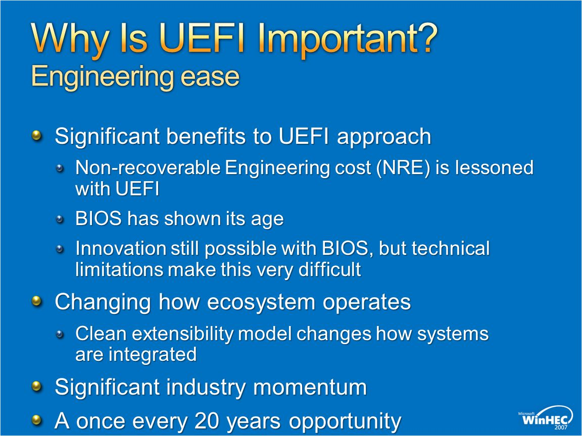 Why Is UEFI Important Engineering ease