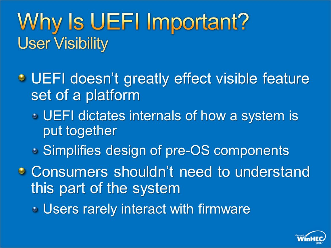 Why Is UEFI Important User Visibility