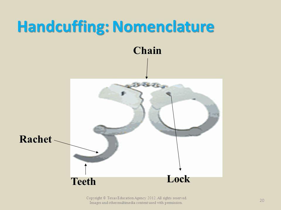 Handcuffing: Nomenclature