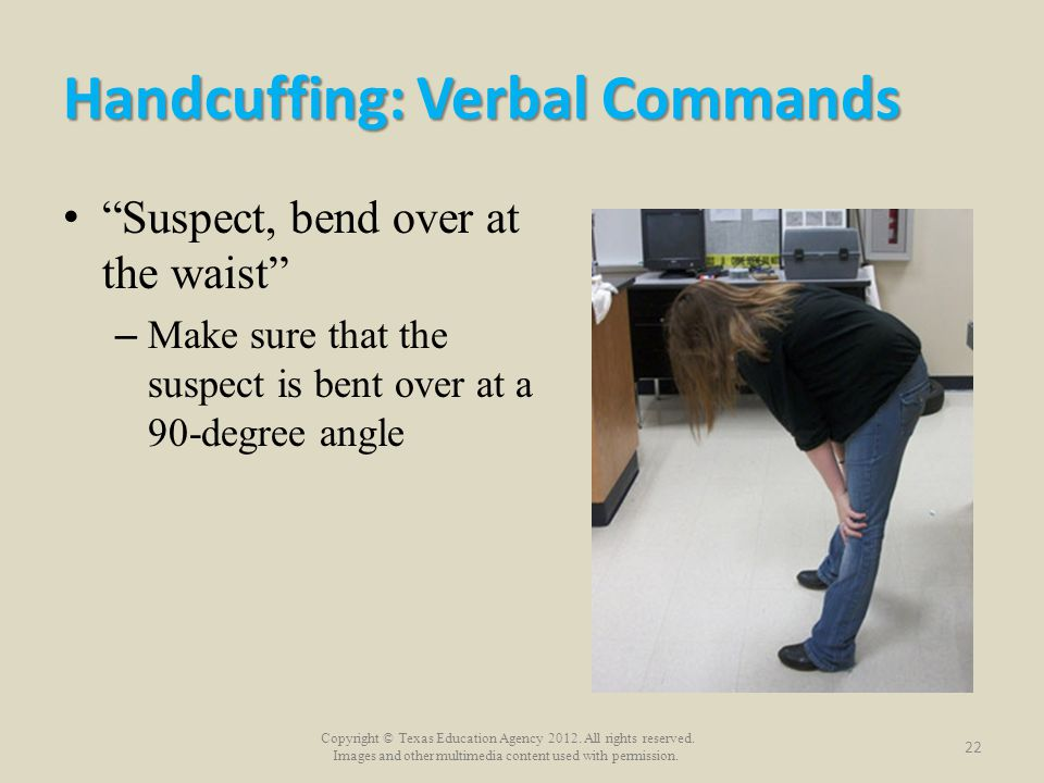 Handcuffing: Verbal Commands