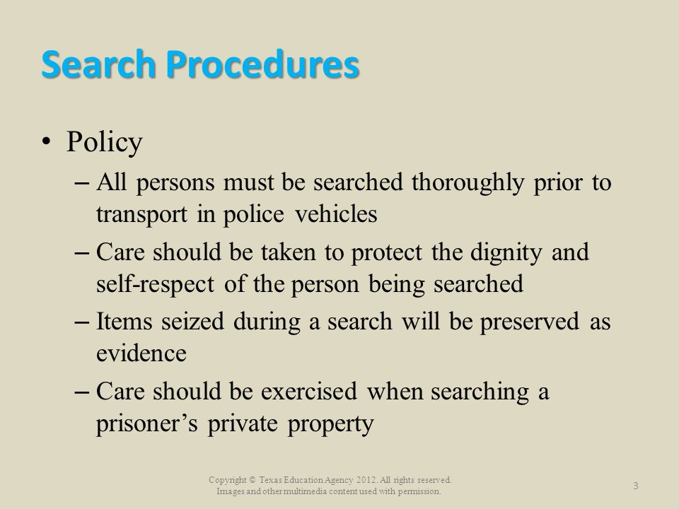 Search Procedures Policy
