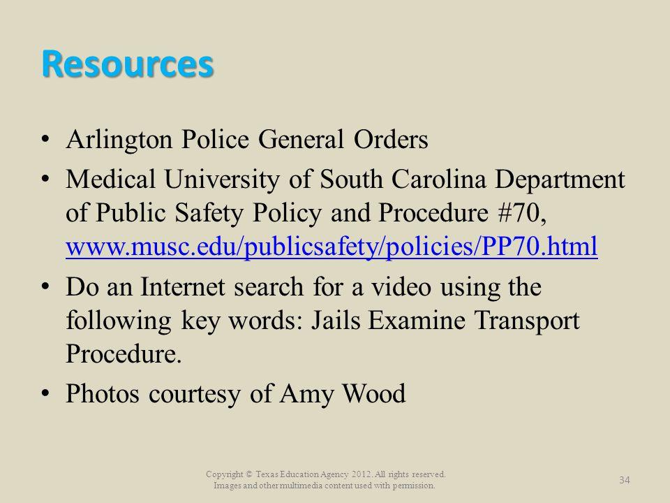 Resources Arlington Police General Orders