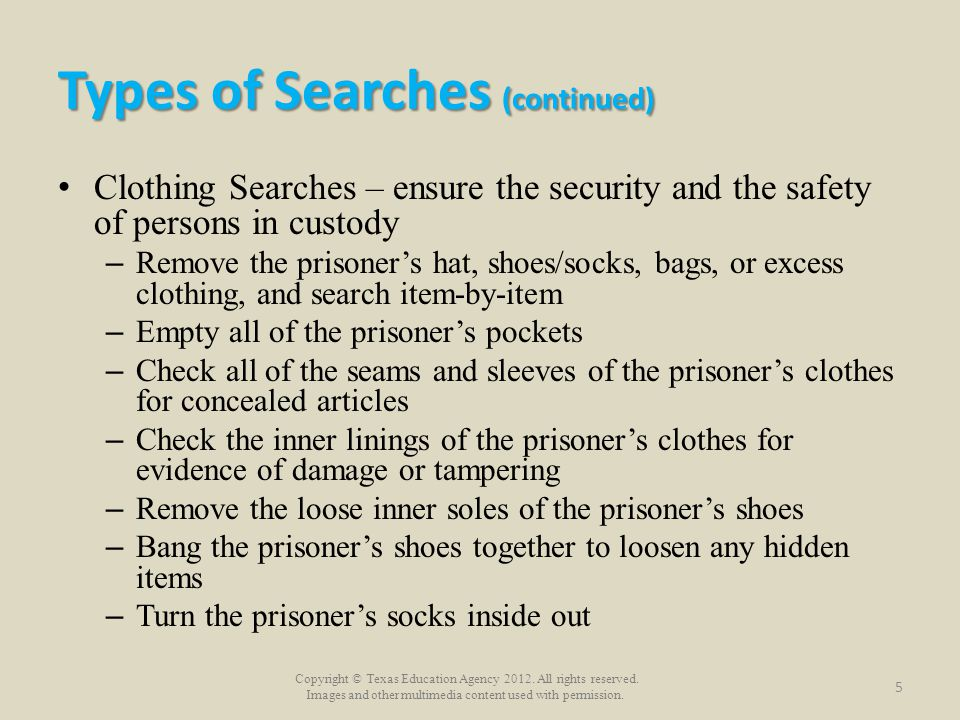 Types of Searches (continued)