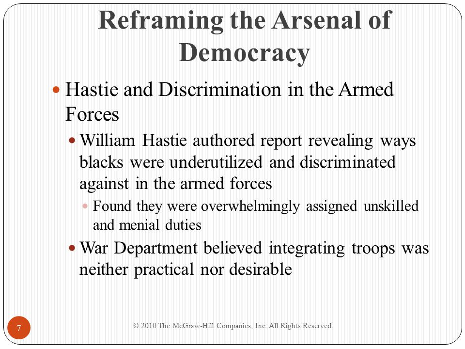 Reframing the Arsenal of Democracy