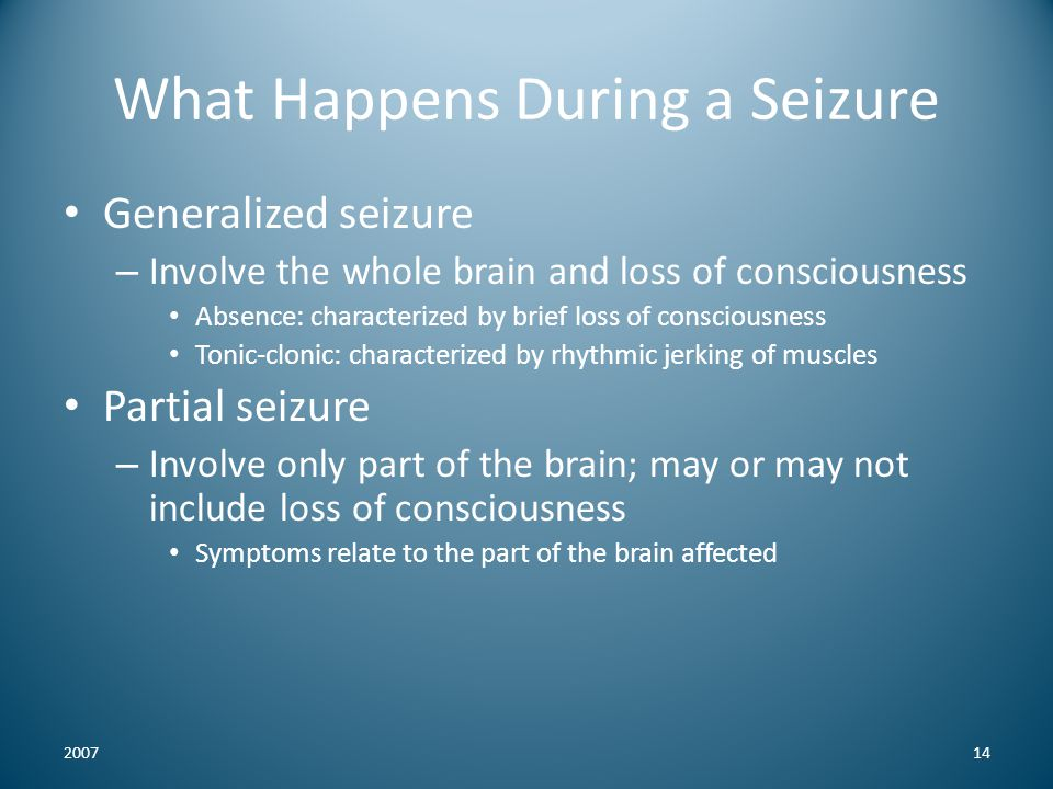 What Happens During a Seizure