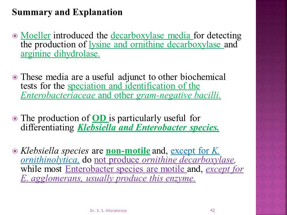 Summary and Explanation
