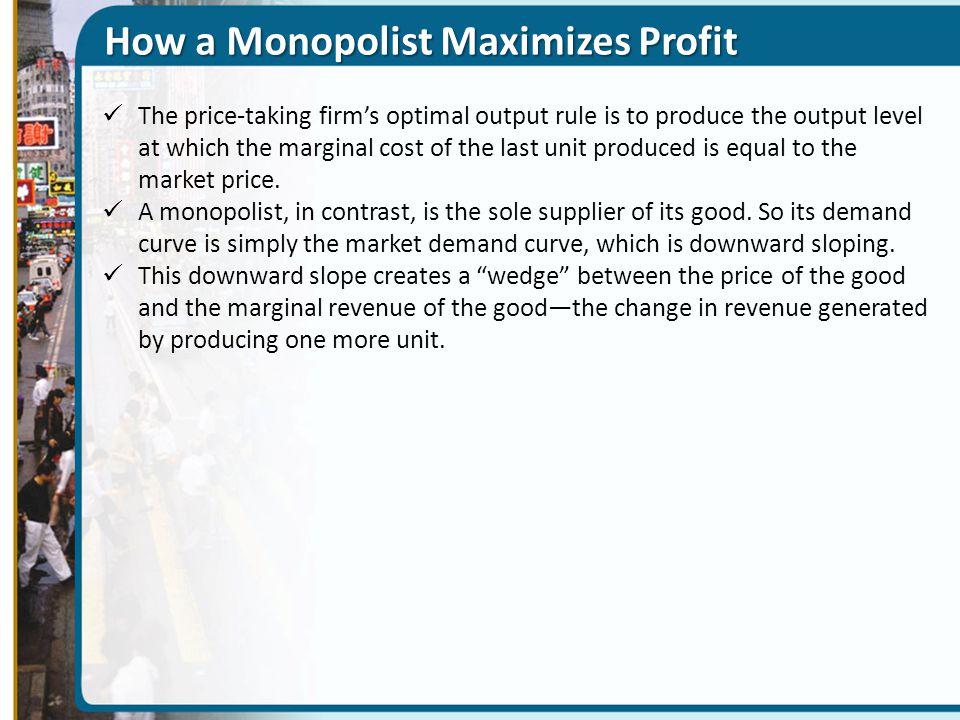 How a Monopolist Maximizes Profit