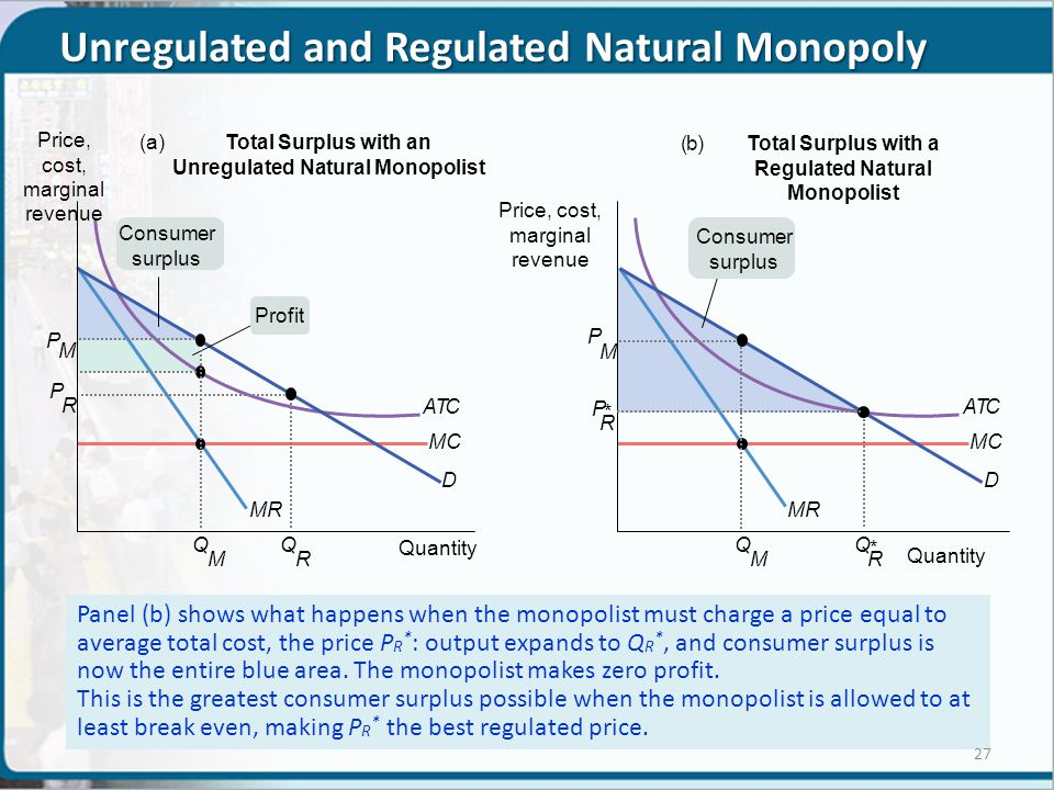 Unregulated and Regulated Natural Monopoly