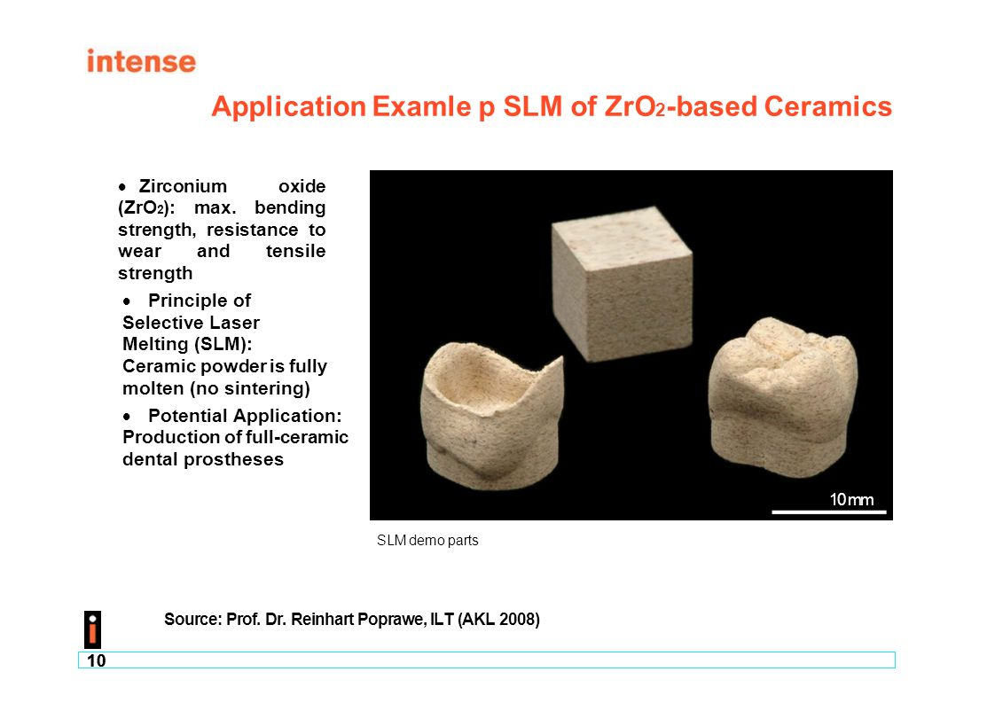 Application Examle p SLM of ZrO2-based Ceramics