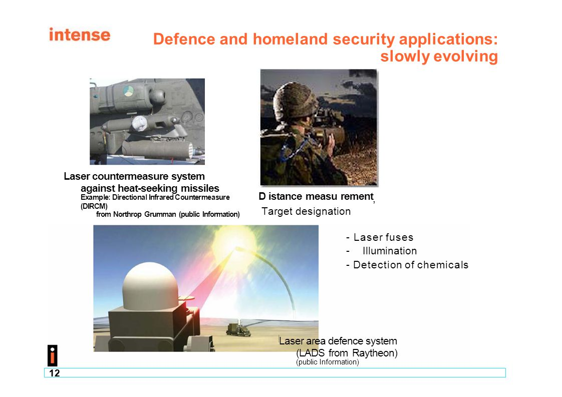 Defence and homeland security applications: slowly evolving