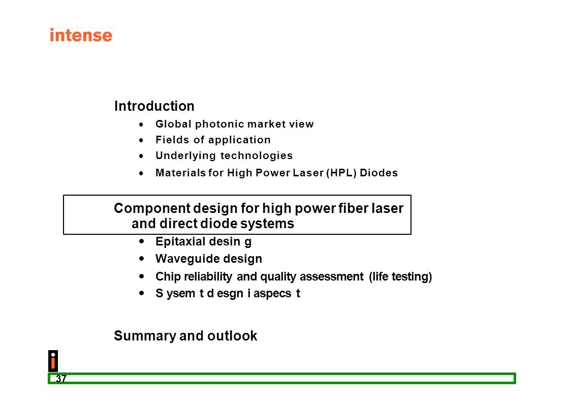 Component design for high power fiber laser and direct diode systems