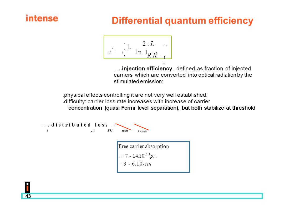 Differential quantum efficiency