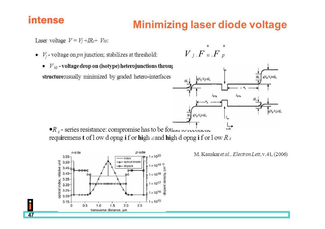 Minimizing laser diode voltage