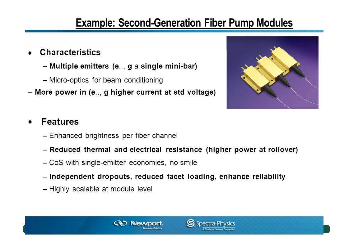 Example: Second-Generation Fiber Pump Modules