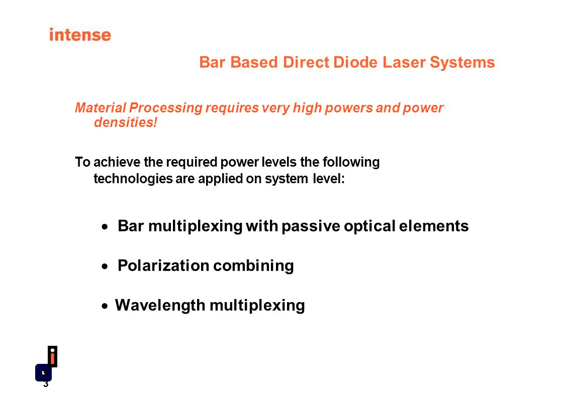 Bar Based Direct Diode Laser Systems