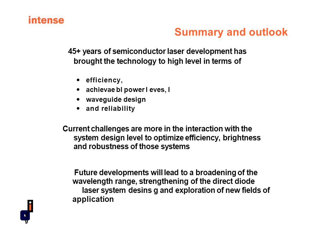 45+ years of semiconductor laser development has