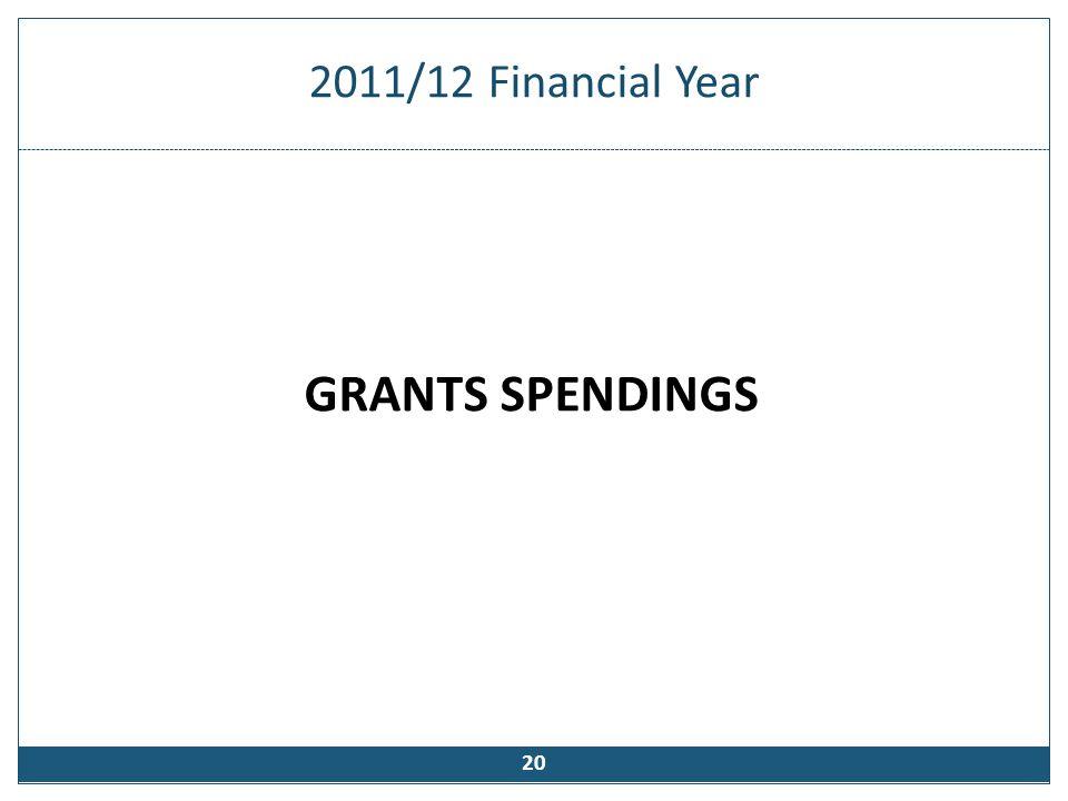 National Grants (2011/12 financial year)