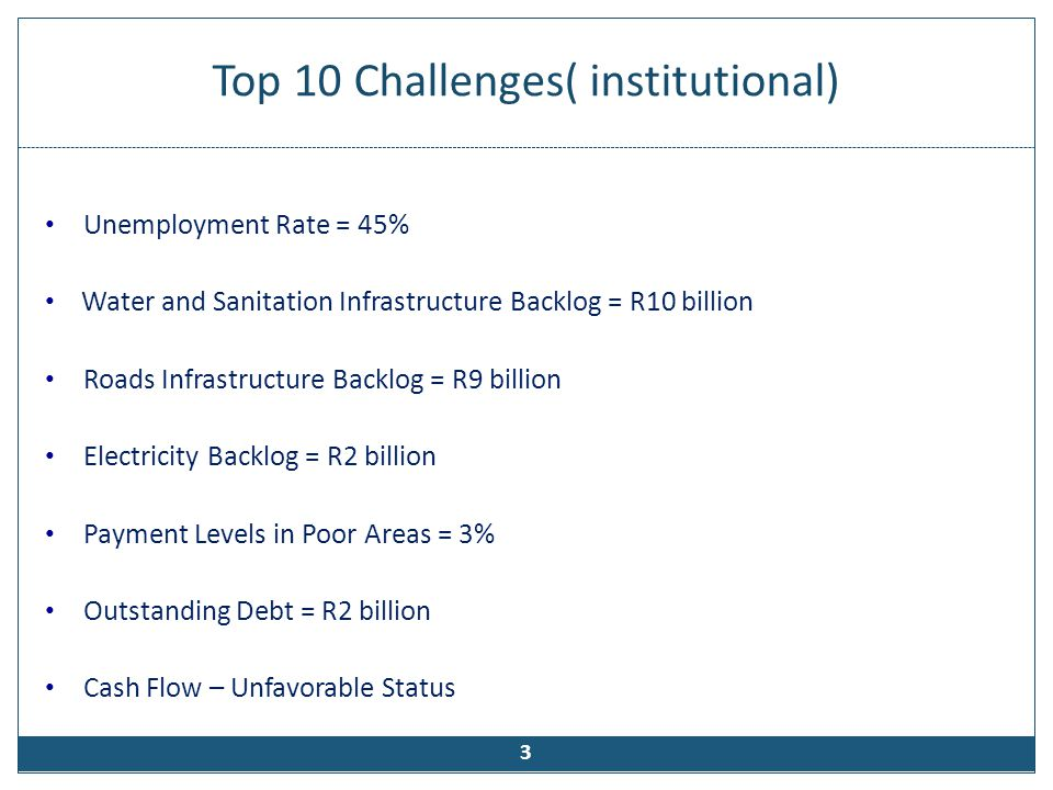 Top 10 Challenges( institutional)