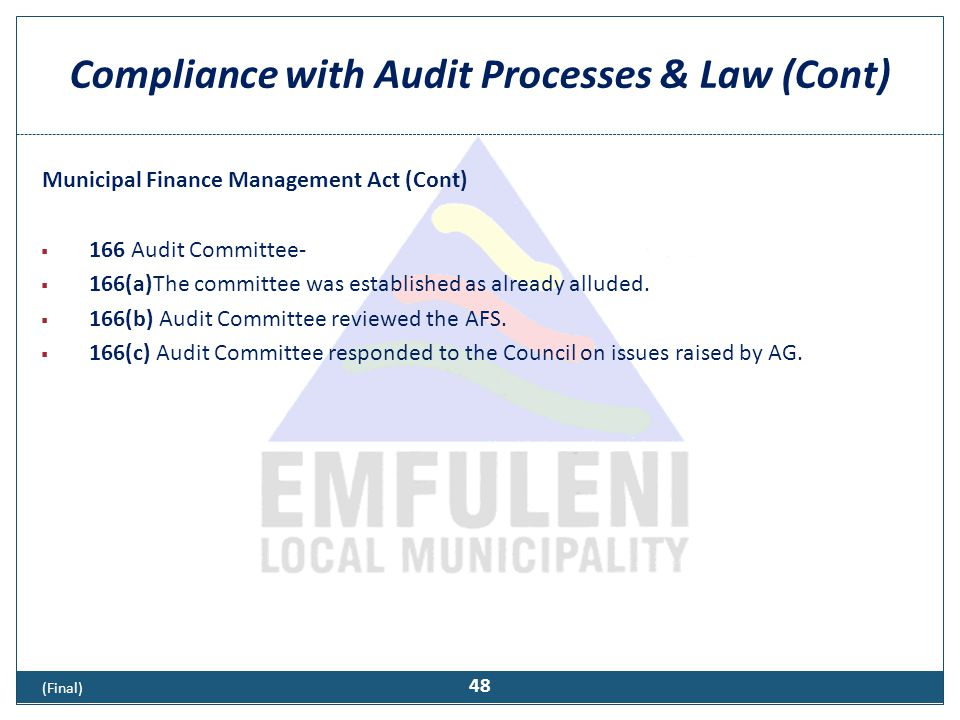 Reporting and other compliance requirements