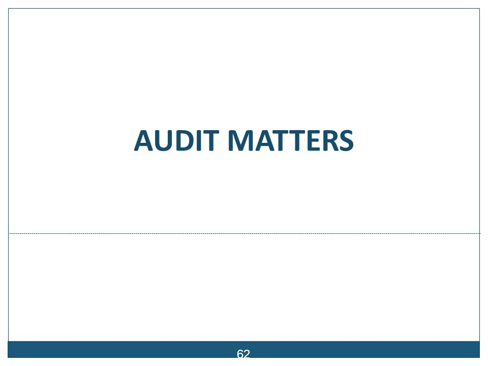 Audit Report Audit Opinion: 2006/2007 – Disclaimer