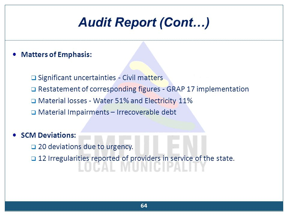 Status of Audit Action Plan for 2010/2011
