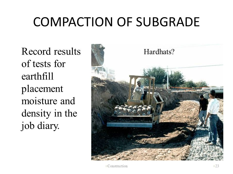 COMPACTION OF SUBGRADE