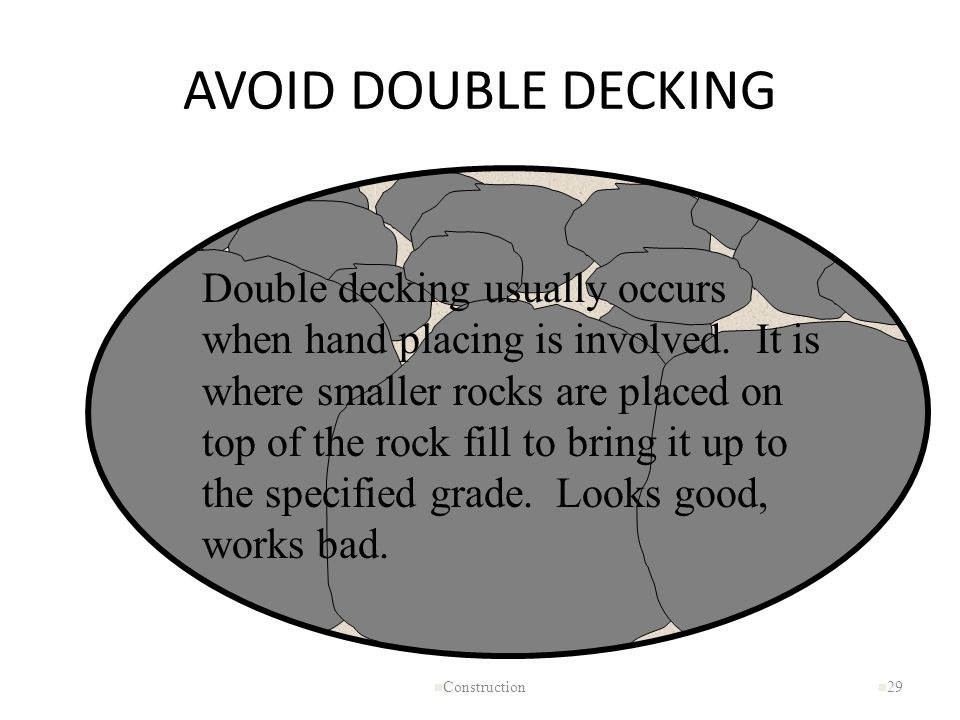 AVOID DOUBLE DECKING