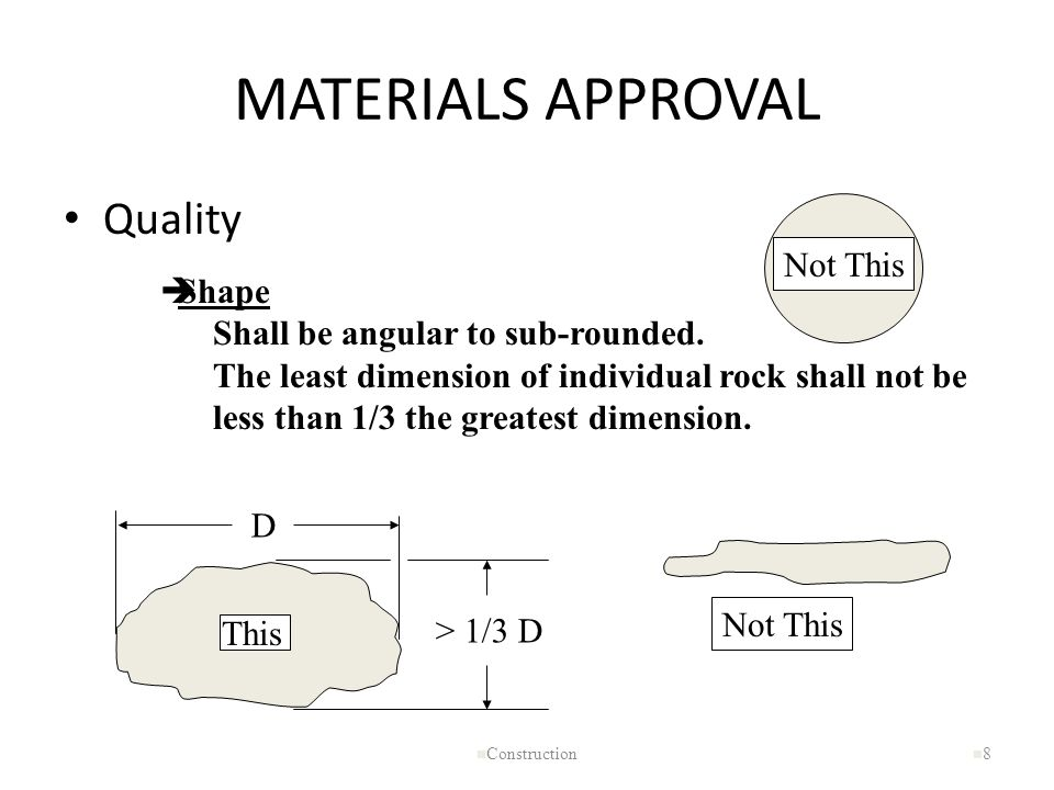 MATERIALS APPROVAL Quality Not This Shape