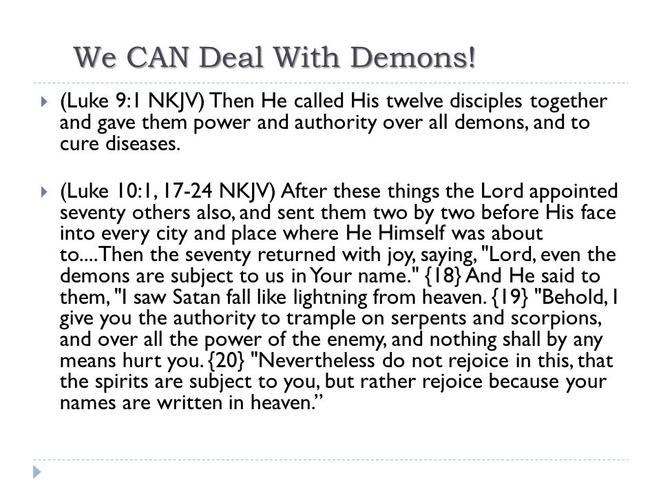 We CAN Deal With Demons!