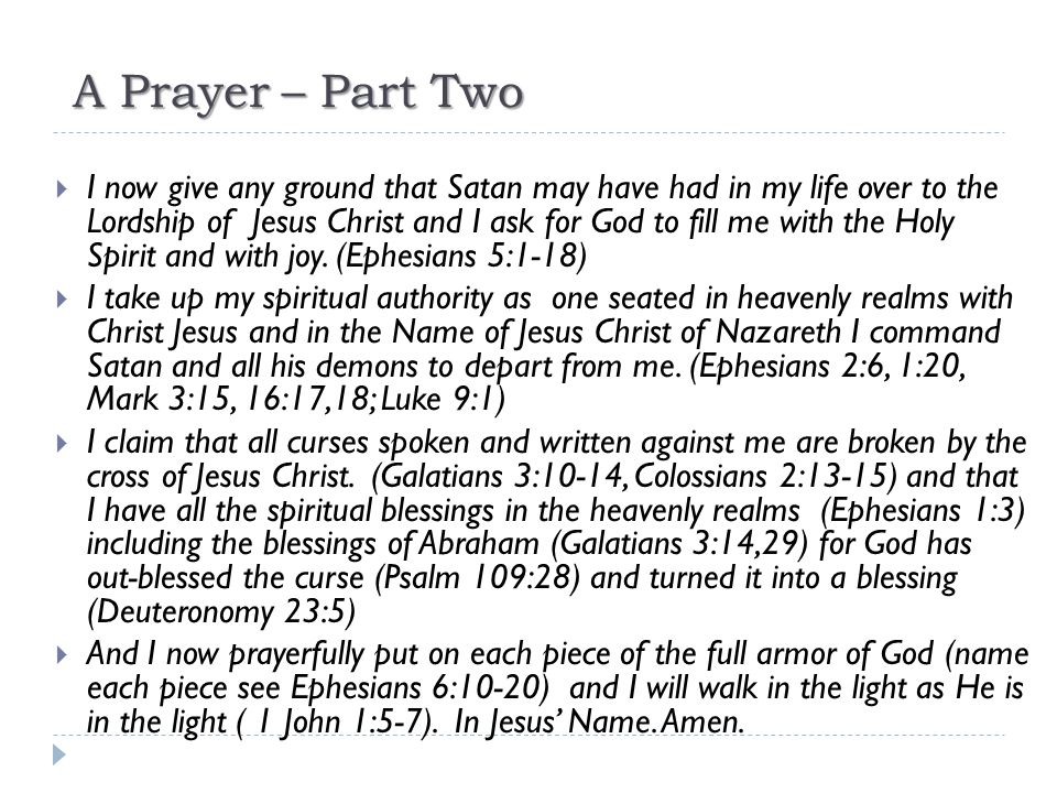 A Prayer – Part Two
