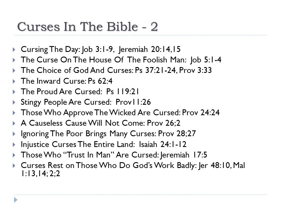 Curses In The Bible - 2 Cursing The Day: Job 3:1-9, Jeremiah 20:14,15