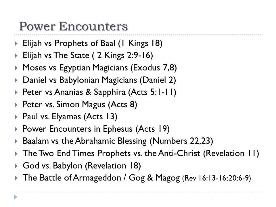 Power Encounters Elijah vs Prophets of Baal (1 Kings 18)