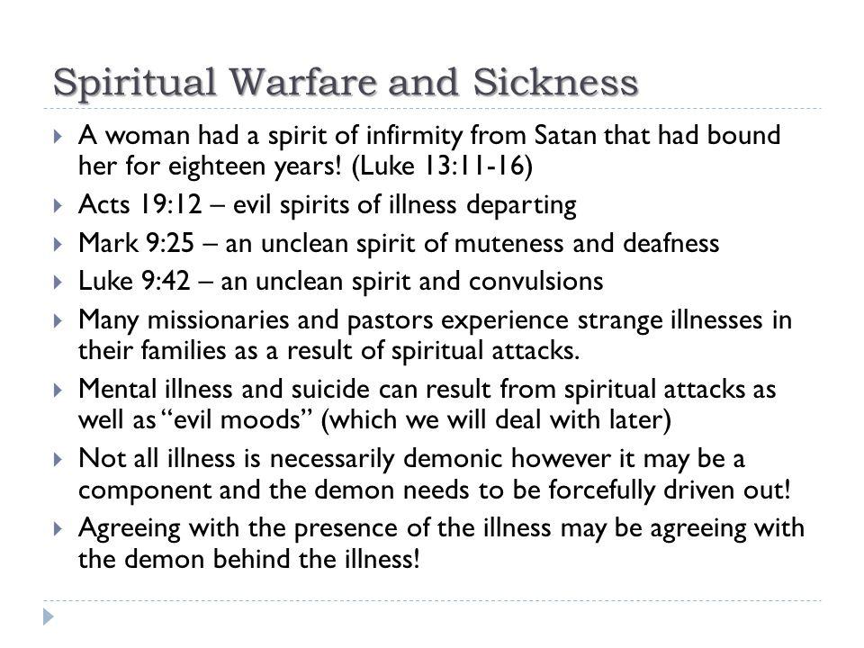 Spiritual Warfare and Sickness