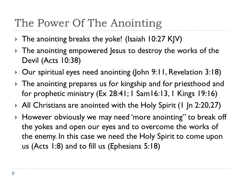 The Power Of The Anointing