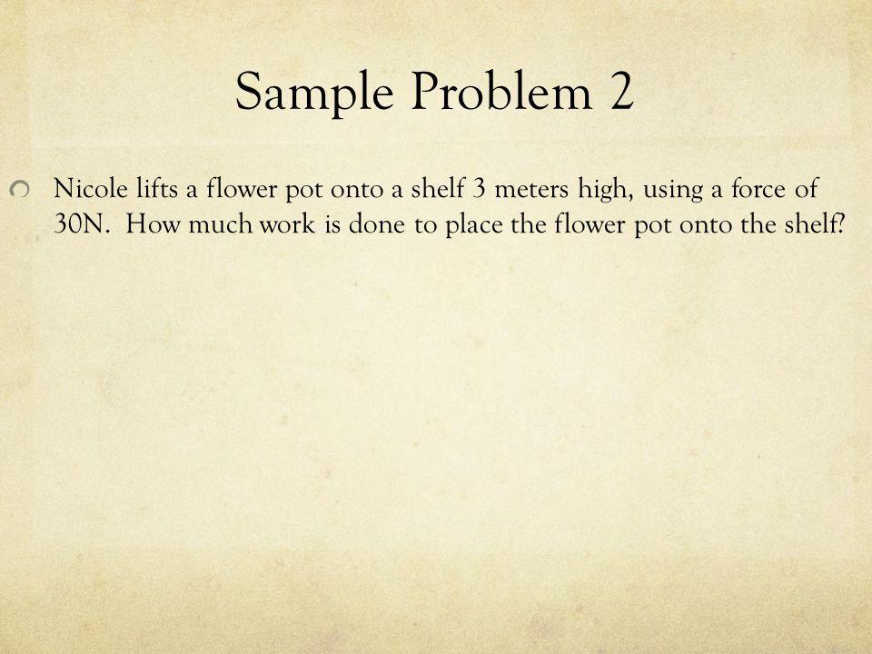 Sample Problem 2