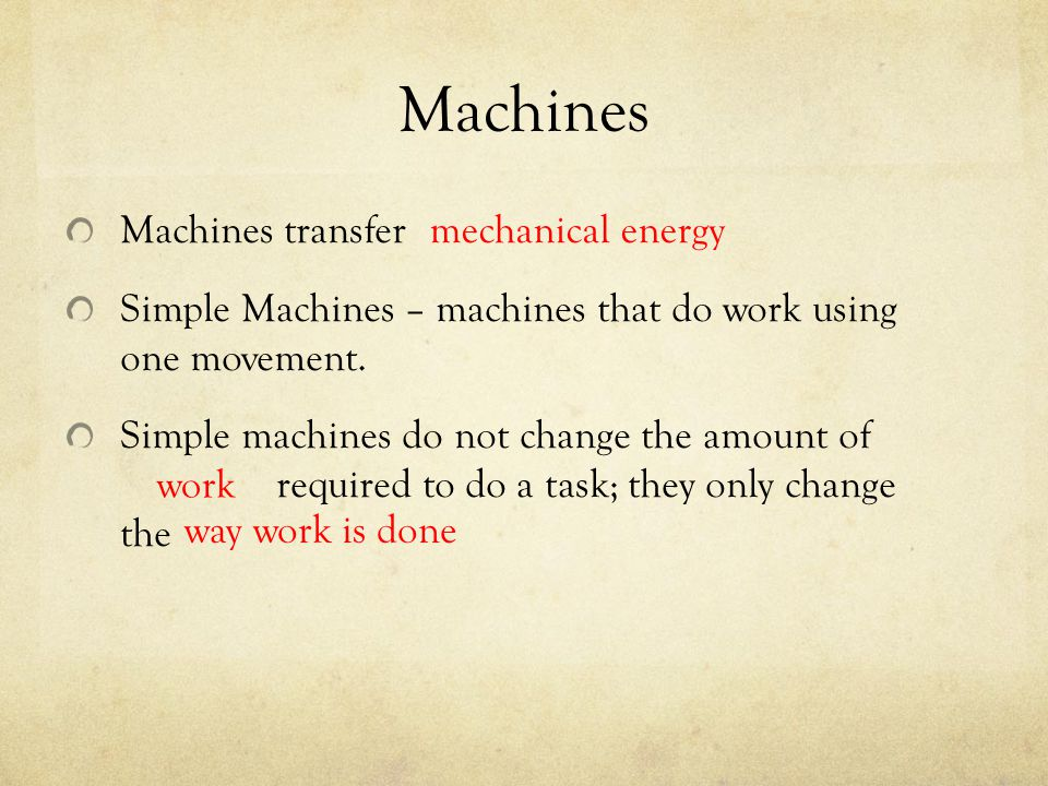 Machines Machines transfer