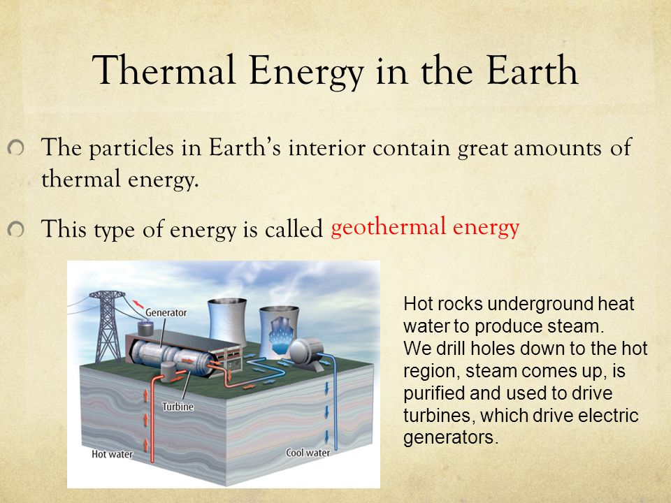 Thermal Energy in the Earth