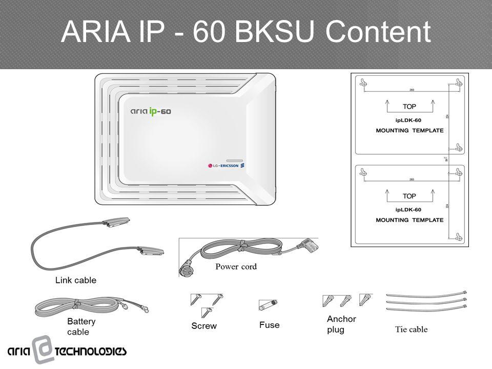 ARIA IP - 60 BKSU Content