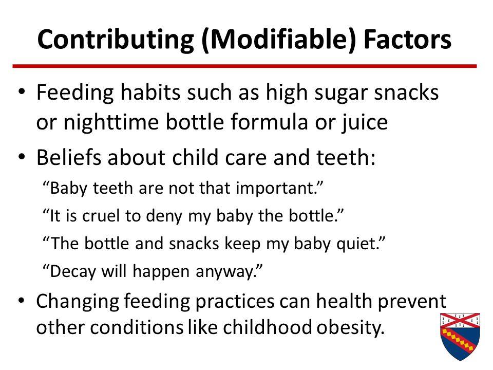 Contributing (Modifiable) Factors