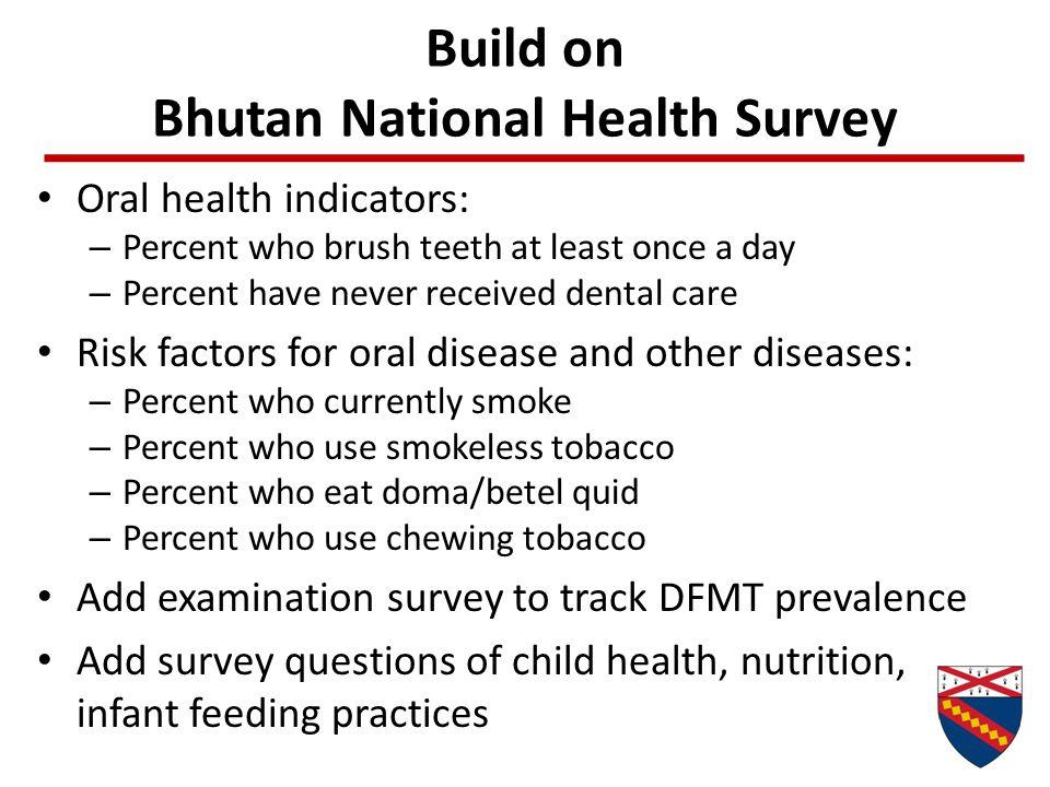 Build on Bhutan National Health Survey