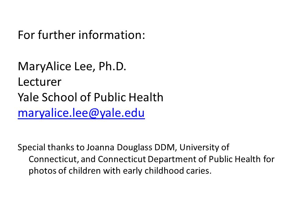 For further information: MaryAlice Lee, Ph.D. Lecturer