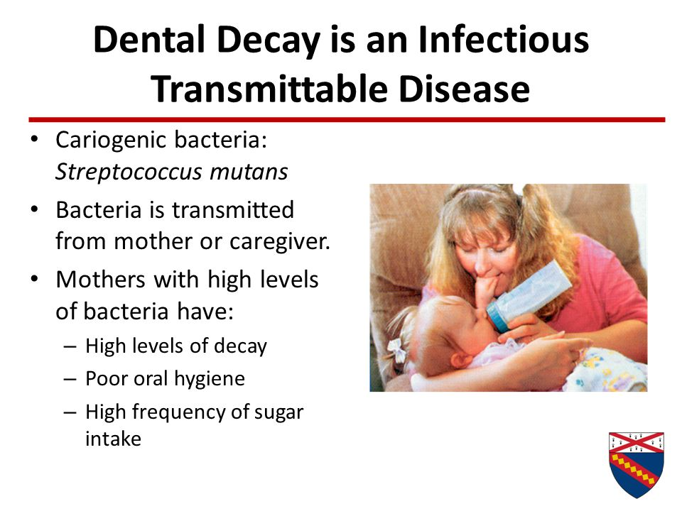 Dental Decay is an Infectious Transmittable Disease
