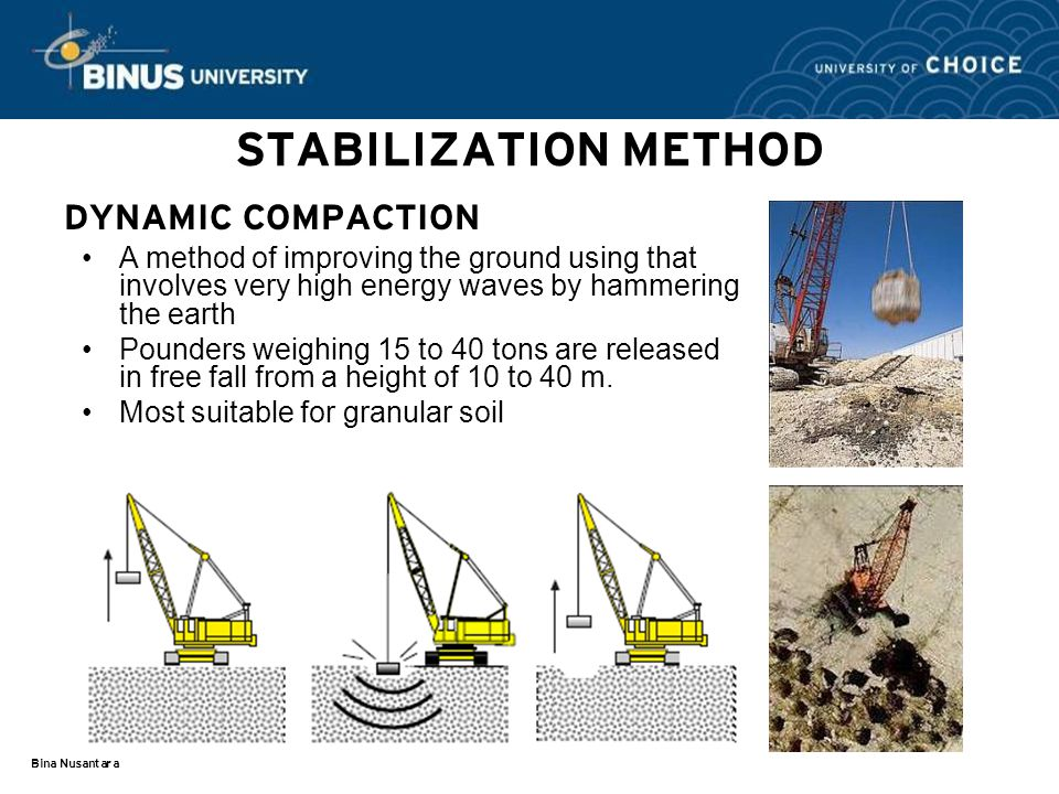 STABILIZATION METHOD DYNAMIC COMPACTION