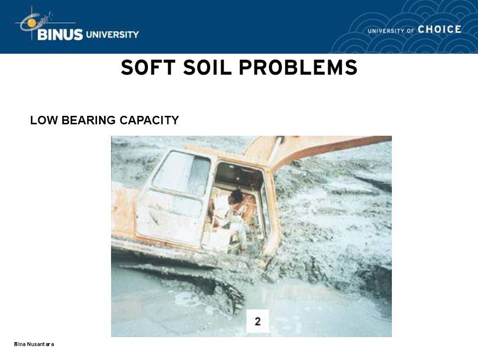 SOFT SOIL PROBLEMS LOW BEARING CAPACITY Bina Nusantara